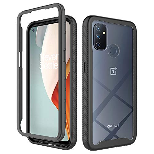 Dzxouui for Oneplus Nord N100 Case,One Plus Nord N100 Case,Heavy Duty Protective Shockproof Bumper Hybrid Clear TPU Cover Phone Cases for Oneplus Nord N100(XK-Black)