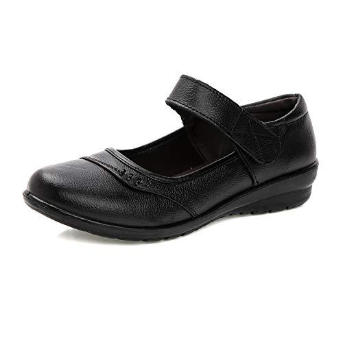 [Mingtudz] レディース ナースシューズ 安全靴 ウォーキングシューズ 通勤 モカシン 軽量 柔軟 婦人靴 スニーカー ブラック 22.5cm �K35