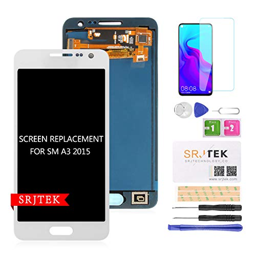 per Samsung Galaxy A3 2015 A300 Schermo LCD Touch Screen digitizer Vetro di Ricambio per Galaxy A3 (2015) A300F A300F/DS A300H/DS A300H A300M/DS A300M Display AMOLED Parti (Non Originali)