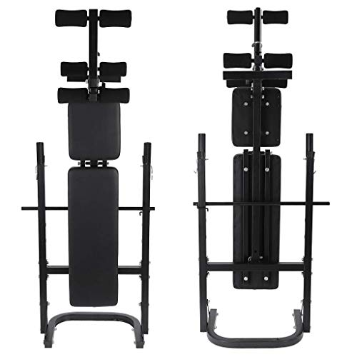 COZIMON Weight Bench Barbell Lifting Press, Olympic Weight Bench Adjustable Incline, Home Gym Fitness Workout Bench, Full Body Weightlifting and Strength Training, Black, US in Stock
