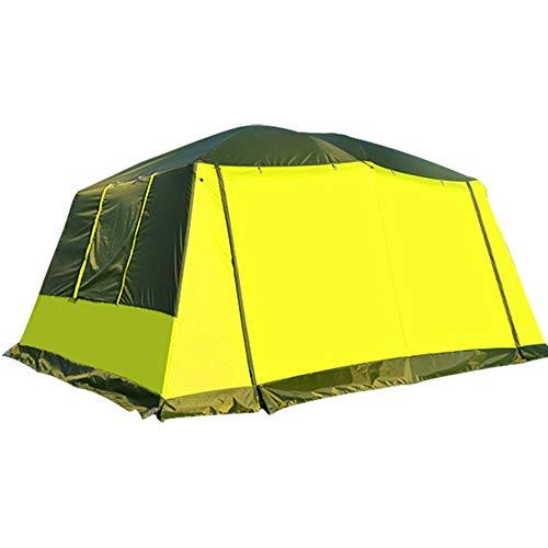 JOMSK Llevan una Bolsa de Transporte y Ampliable Tienda de campaña portátil de Viaje Mochila Tent Tent Carpa Familiar (Color : Yellow, Size : One Size)