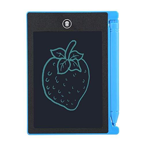 Hakeeta Mini-schrijfbord, 4,4 inch, elektrisch schrijfbord, E-schrijfbord, voor memo/Office/notities, dagplanner/thuis/koelkast, bericht whiteboard, blauw