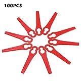 100 Stück Kunststoffmesser für Akku-Rasentrimmer Bosch, Einhell, großen Lochdurchmesser is 11.5 mm, kleine Lochdurchmesser 7 mm