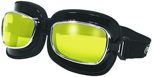 Global Vision Eyewear Retro Joe Goggle Series Sunglasses With Yellow Tint Lenses and Spring Hook Pouch by Global vision Eyewear