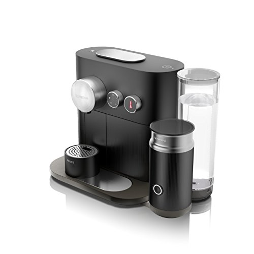 Nespresso Krups Expert Milk XN6018 - Cafetera monodosis de cápsulas Nespresso con aeroccino, controlable con smartphone via bluetooth, recetas ajustables, 19 bares, apagado automático, antracita