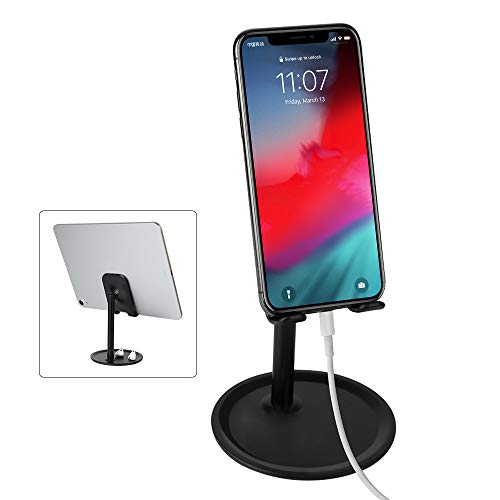 MEMUMI Universal Soporte para Celular, Multiángulo Soporte de Celular Ajustable para iPhone 11/11 Pro MAX Soporte para Celular Escritorio para Samsung Huawei Xiaomi y Más Teléfonos Móviles