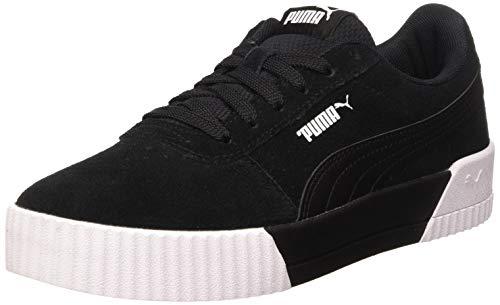 PUMA Carina, Zapatillas para Mujer, Negro Black Black White, 40 EU