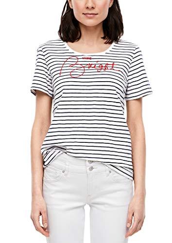 s.Oliver Damen T-Shirt, 58L0 Eclipse Blue Embro, 40
