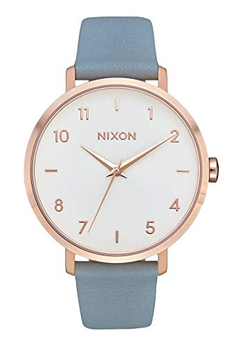 Nixon Damen Analog Quarz Uhr mit Leder Armband A1091-2704-00