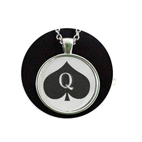 QUEEN Of SPADES * Necklace Pendant Jewelry Charm Hotwife BBC