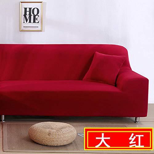 HXTSWGS Protectoras de Muebles,Funda para sofá de Sala de Estar, Funda para sofá elástica, Funda para sofá para Silla y Taburete, Funda para Muebles-Red_145-185cm