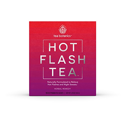 Hot Flash Tea - Fast-Acting, Organic, Menopause Relief for Hot Flashes, Night Sweats, Mood Swings, Stress - While Improving Sleep Quality, Concentration and Energy* (15 Day Supply)