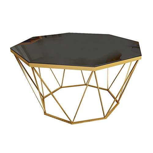 KangJZ-Tables KJzhu woonkamer-evenwichtig glazen salontafel, creatief gouden ronde sofa tafel creatief eettafel thee-tafel ijzeren kunst-leestabel groot