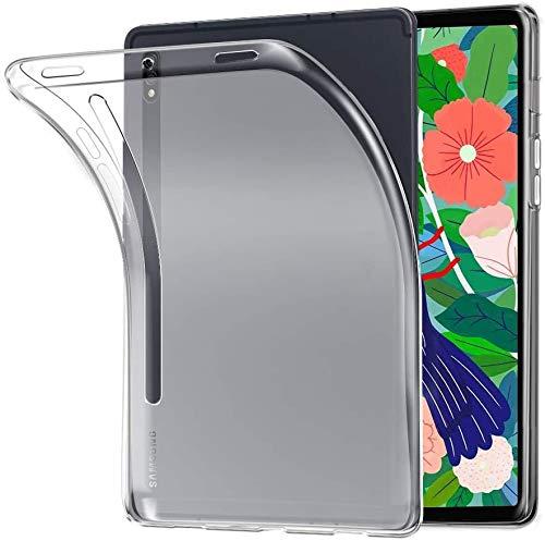 MAXKU Hülle für Samsung Galaxy Tab S7,Crystal Halb weiß Schutzhülle [Shock Absorption] weicher TPU-Gel-Stoßfänger Schutzhülle für Kompatibel Mit Samsung Galaxy Tab S7 11-inch Case