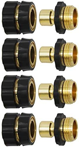 Twinkle Star 3/4 Inch Garden Hose Fitting Quick Connector Male and Female Set, 2 Set