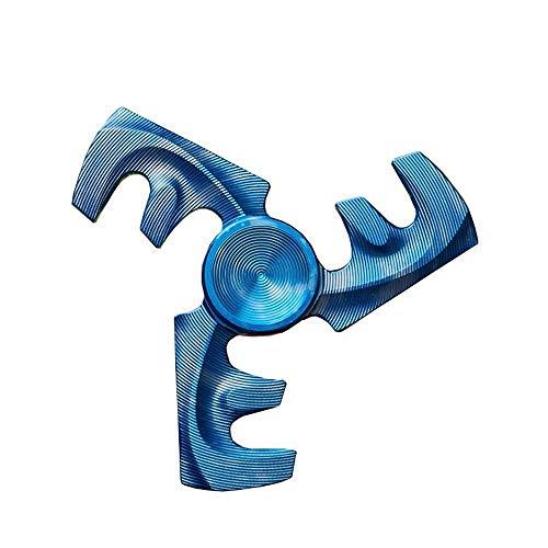 HBBOOI Finger Spinner Hand Spiral Spinner Titanlegierung Fingertip Gyro Killing Time Nxiety Relief und Stress Relief Spinner for interaktive Spielzeuge Kinder Erwachsene (Color : C)
