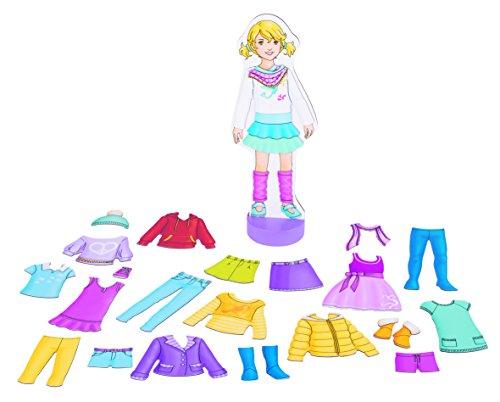 Goki, 58531.0, magnetische Anziehpuppe mit Outfits, 26 Teile