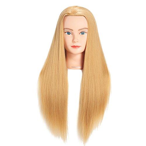 Hairginkgo 66cm- 71cm cabeza de maniquí cabeza de entrenamiento de...