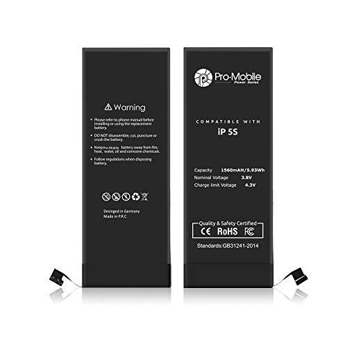 Pro-Mobile Ersatz Akku für Original Apple iPhone 5S 1560 mAh inkl.Klebestreifen und Reperaturwerkzeugset Batterie Battery Handy Accu iPhone 5S