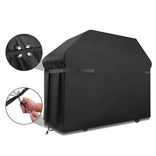 Heavy BBQ Grill Cover Black Oxford Doek Waterdicht/Stofdicht/UV-bestendig Opslag Cover Outdoor Portable Opvouwbaar