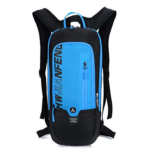 BLF Zaino per ciclismo, in tessuto traspirante e impermeabile, capacità 10litri, formato mini, leggerissimo, adatto a qualsiasi sport e attività come corsa, escursionismo, arrampicata, campeggio e sci, BLF-QX-025, Blue, 46 * 22 * 7 cm (Height * Width