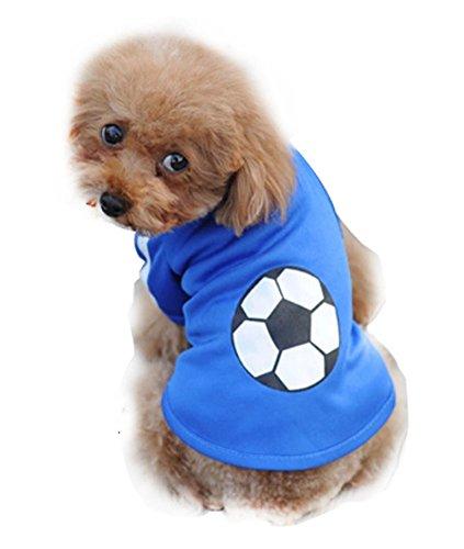 Lovely Puppy Apparel Pet Vêtements pour animal domestique Bleu Polo Vêtements, tour de poitrine 30 cm, XS