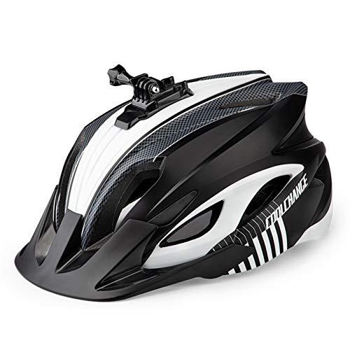 CHENSTAR Casco de bicicleta de montaña para hombres y mujeres, casco de bicicleta montable con luz y visera desmontable, casco de bicicleta de montaña MTB