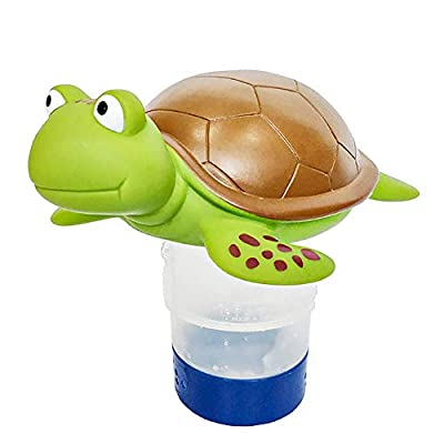 """Chlorine Floater, Turtle Collapsible Floating Pool Chemical Dispenser ?Fits 3"""" Chlorine Tablets?Release Adjustable for Indoor & Outdoor Swimming Pool Hot Tub SPA"""