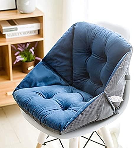 DOPN Cojín de asiento para sofá, silla de oficina, cojín trasero, cojín de una pieza, cojín para la cintura, con corbatas, para la oficina, el sofá, el coche, silla plegable