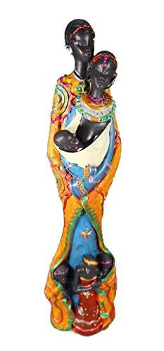 Massai Familie 26 cm Afrika Kinder Style Kunst Figur Skulptur Deko GCG 0020 A