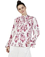 Iconic Women's 2091022 SS23AOPBLSE Woven Body Blouse, Multicolor