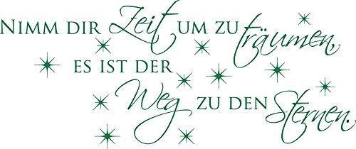 GRAZDesign Wandtattoo Schlafzimmer Spruch Nimm Dir Zeit um zu träumen / 95x40cm / 061 grün