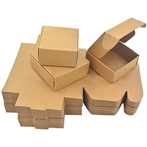 bobotron Papier Handgemachte Seifenkiste Braunes Papier SüüIgkeiten/ZubehhR Box Kraft Papier DIY Geschenk Verpackung Box (50 StüCk