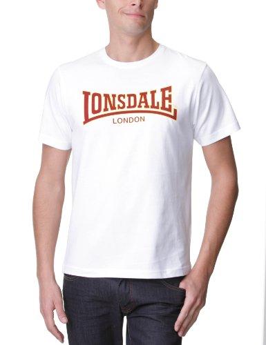 Lonsdale Herren Langarmshirt T-Shirt Classic Slimfit weiß (weiß) Medium