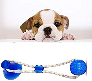 Dog Chew Toys Pet Supplies, Self-Playing Rubber Ball Rope Toy Suction Dog Toy Puppy Teething Toys Interactive Dog Toys Pet...