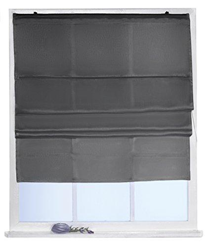 Betz Raff-Rollo Silk Look Größe 80 x 160 cm in den Farbe anthrazit