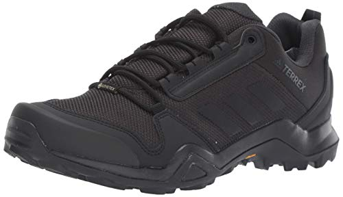 adidas Outdoor Men's Terrex AX3 GTX Hiking Boot, Black/Black/carbon, 10 M US