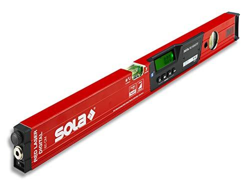 SOLA - RED 60 laser digital - digitale Laser-Wasserwaage mit Bluetooth - Wasserwaage digital mit LCD - Fernsteuerung über Smartphone und App - Neigungsmesser digital mit Laser - IP65