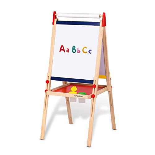 Schildersezel voor kinderen, opstahulp voor kinderen in opvoeding, klein bord, dubbelzijdig (verzending met 7 soorten kleine cadeaus)
