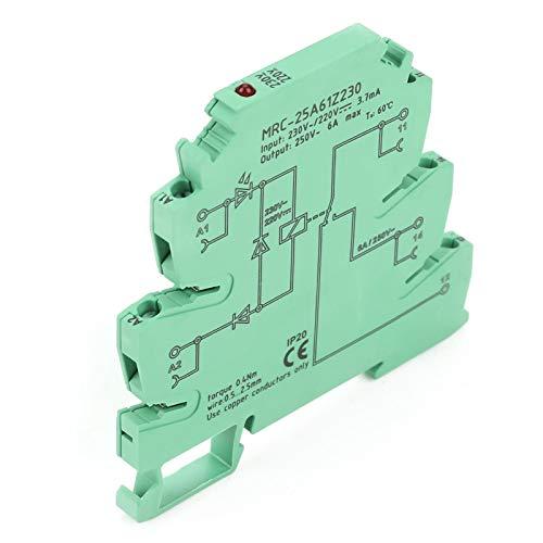 Cosiki Relé, 1NA 1 NC Stable TS - Instalación de 35 rieles Relé PLC Ultrafino, MRC-25A61Z230 Entrada 230VAC / 220VDC Durable para Controlador PLC Amplificador de Interruptor de Acoplamiento