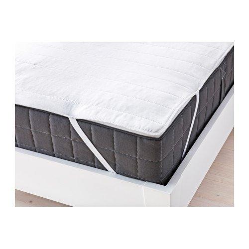 IKEA ANGSVIDE Matratzenschoner, Superking-Größe, weiß, 180x 200 cm
