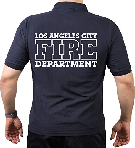 Feuer1 Polo Navy, Los Angeles City Fire Department 3XL