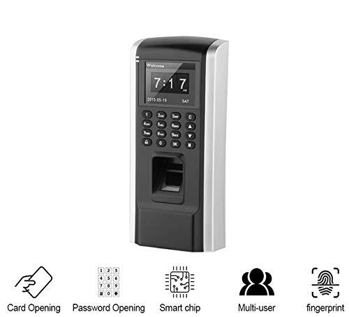 Diyeeni Zeiterfassungssystem mit Fingerabdruck/Karte Leser, Elektronische Stempeluhr Zugangskontrolle, Anwesenheits Maschine Mitarbeiter Stechuhr mit 2,4 Zoll TFT Schirm, USB Datenübertragung
