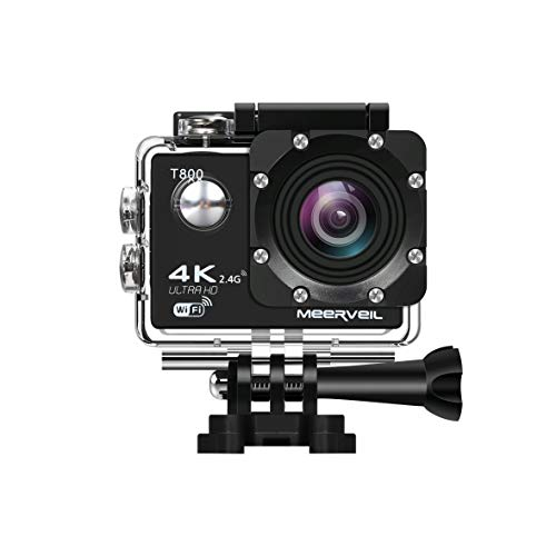 Meerveil 4K Action Camera WiFi Waterproof Sports Camera with Remote...