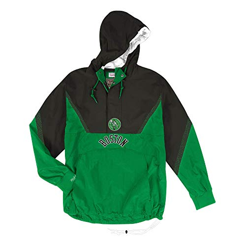 Mitchell & Ness Half Zip Team Colour Anorak Boston Celtics Groen/Zwart