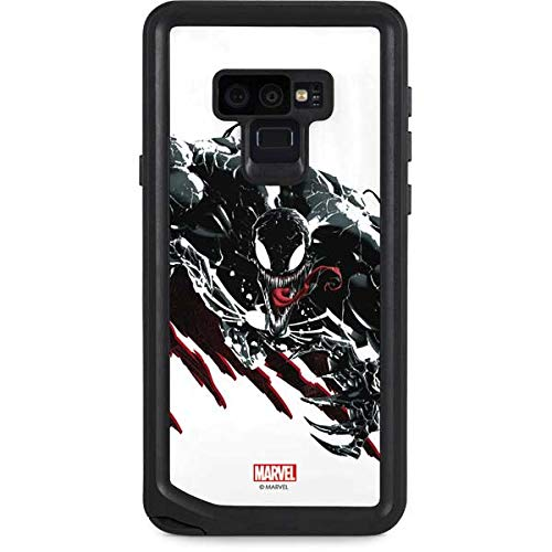 Skinit Waterproof Phone Case Compatible with Galaxy Note 9 - Officially Licensed Marvel/Disney Venom Slashes Design