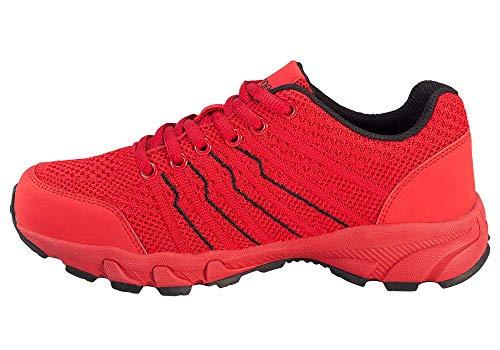 Kastinger Woover Low,Damen,Leichter Trekking-Schuh,Sneaker,gepolsterte und herausnehmbare K-Cell Einlegesohle,Rubber-Sohle,red,36