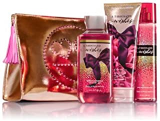 Bath & Body Works A THOUSAND WISHES Glossy & Glam Gift Set - Ultra Shea Body Cream - Fine Fragrance Mist & Shower Gel Full Size