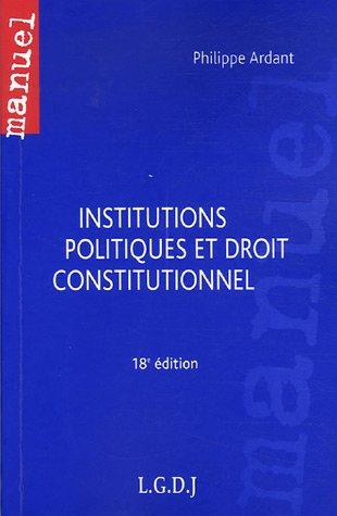 Institutions politiques et droit constitutionnel