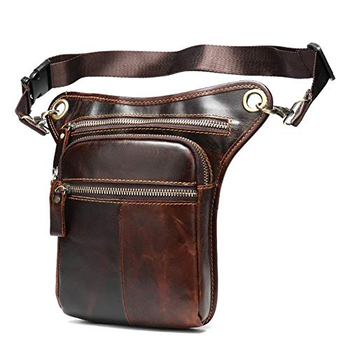 Diagonal Cross-legged Leather Motorcycle Waist Pack Messenger Shoulder Drop Leg Bag